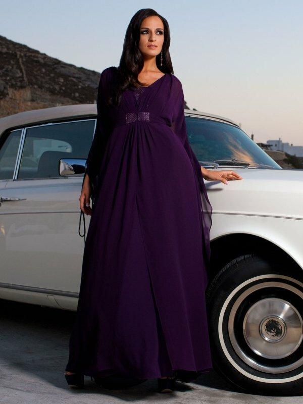 Летящее многослойное платье