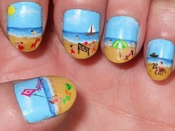 Яркая пляжная роспись