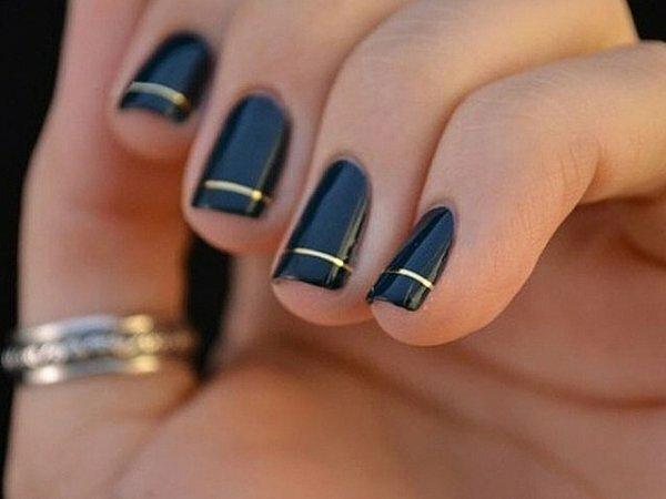Изысканный черный и золотая фольга