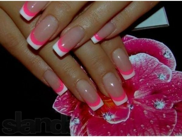 Бело-розовый «твист»