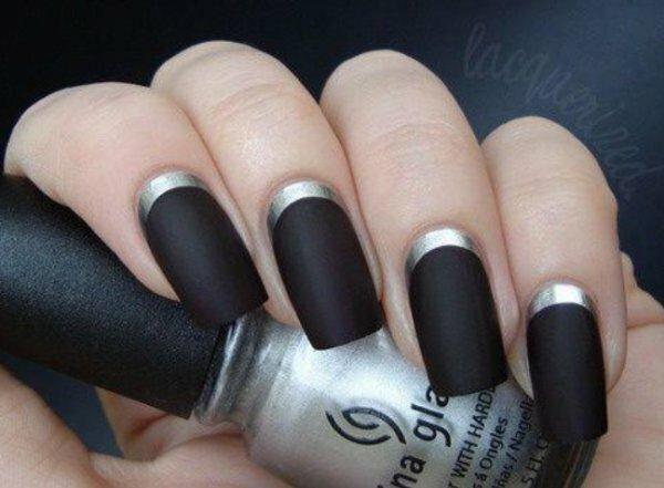 Матовый черный и серебряный металлик