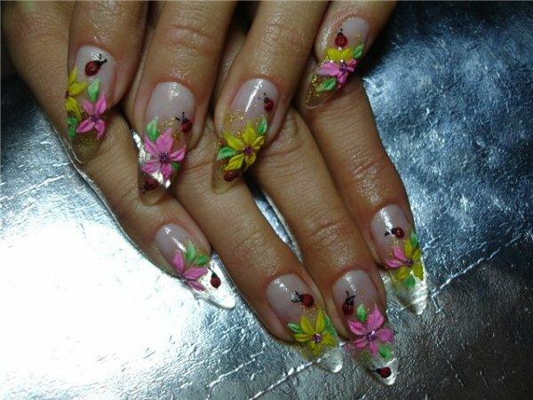 Белый френч «Цветы»