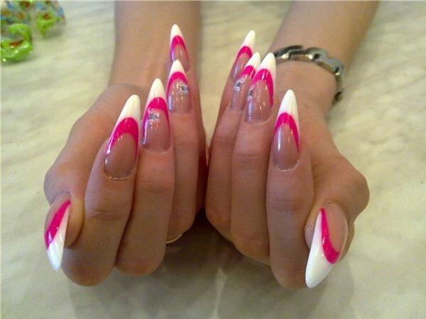 Бело-розовый френч «Фантазия»