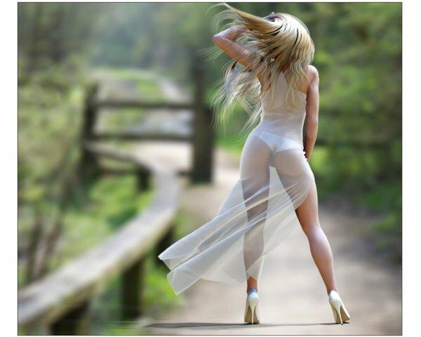 Роскошнейшее «оперение ангела» развевает летний ветерок