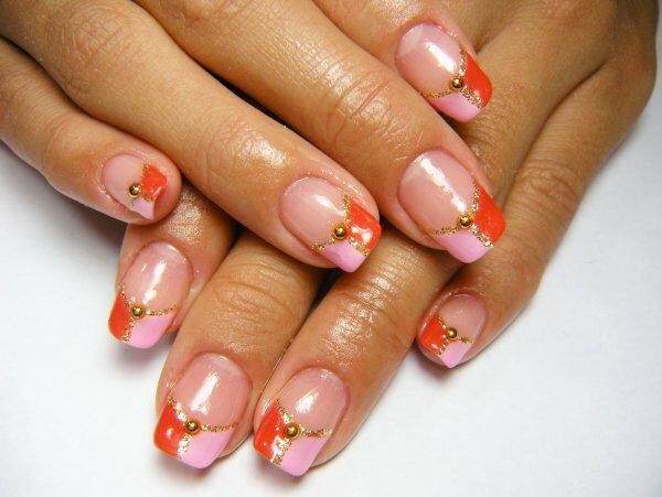 Красно-розовый и золото