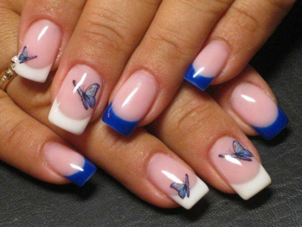 Бело-синие «Бабочки»