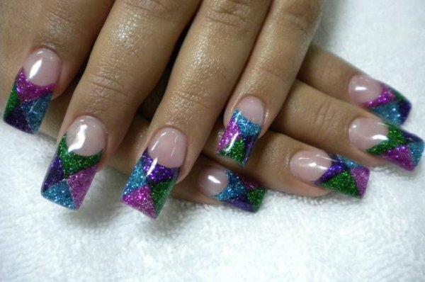 Радужный «мозаичный» френч