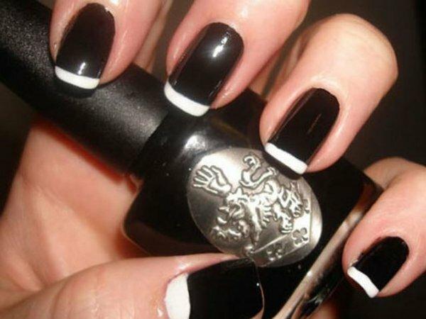 Черно-белый френч «Контраст»