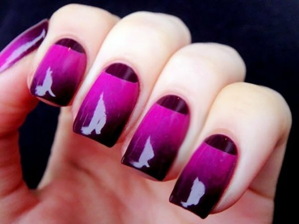 Черно-розовый градиент