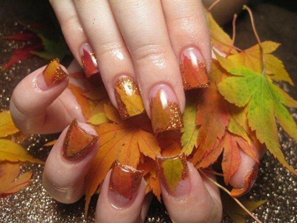 Цветной френч «Золотая осень»