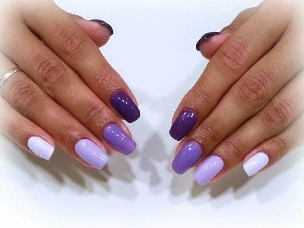 Лаконичный фиолетовый градиент