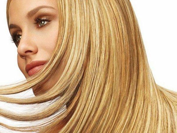 Сияющее мелирование на среднерусые волосы