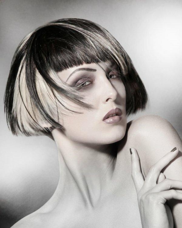 Радикальные «соль и перец» на черные волосы