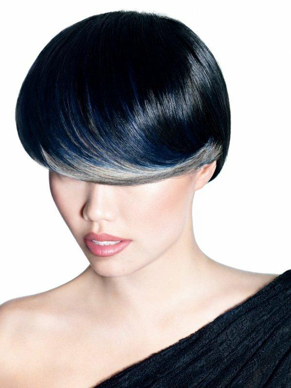 Частичное мелирование на черные волосы