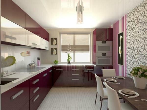 Глянцевая поверхность мебели придется по душе каждой домохозяйке