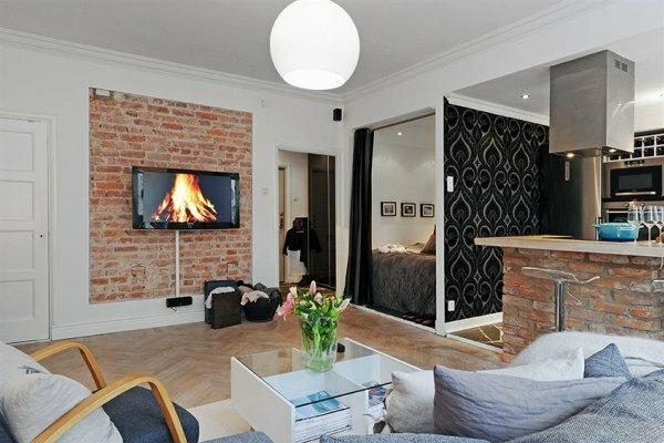 В квартиру-студию идеально впишется ниша со спальным местом