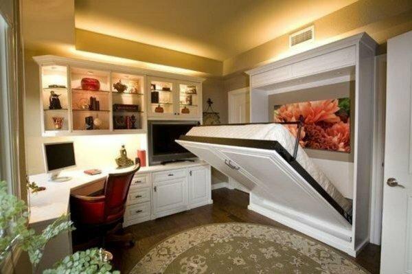 Когда мало места для кровати – отличный выбор шкаф-кровать