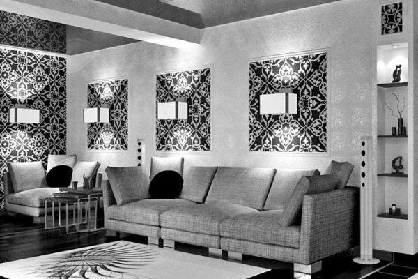 Для любителей черно-белого стиля можно подобрать очень интригующие варианты
