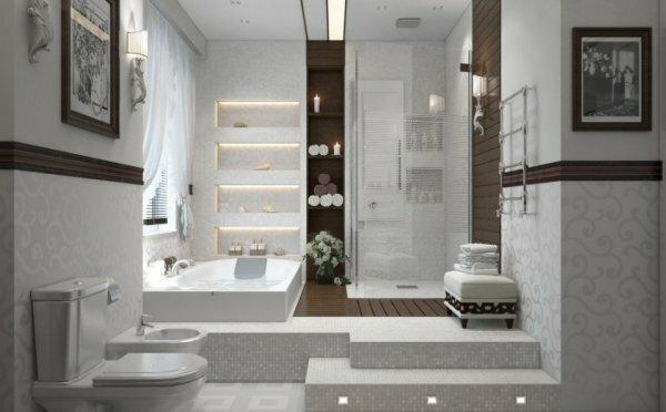 Хотите сделать вашу ванную комнату оригинальной – поставьте ванну на подиум