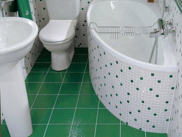 Многие дизайнеры применяют мелкую плитку для отделки ванной и крупную ‒для укладки на пол