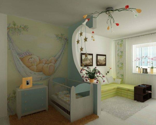 Сочетание комнаты школьника и младенца