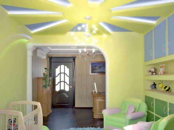 Прямоугольная арка для комнаты новорожденного