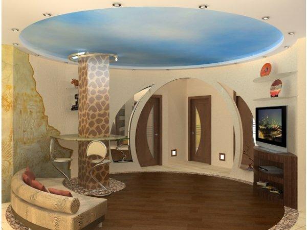 Эллипсовидная арка в гостиной