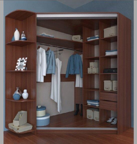 В такой шкаф с легкостью помещаются не только верхняя одежда, но и обувь, и даже коробки