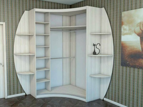 Оригинальный радиусный шкаф-купе