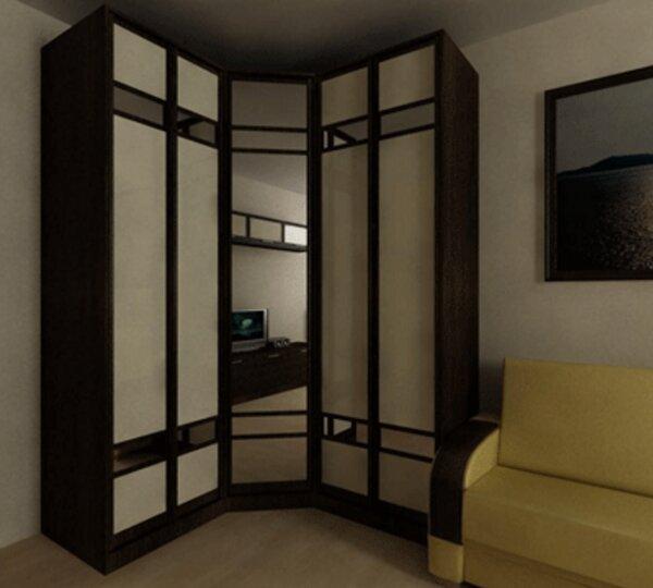 Делая индивидуальный заказ мебели, можно для шкафа такой же материал, как и для перил дивана
