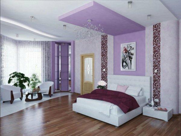 Фиолетовая спальня «Музыкальная абстракция»