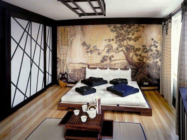 Шелковые фотообои «Японская гравюра»