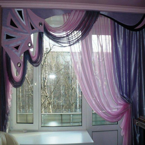 Необычные шторы на кухню своими руками фото