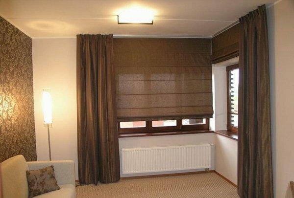 Римские шторы отлично смотрятся с классическим стилем