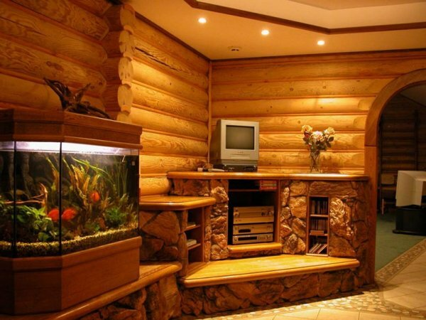 С помощью натяжного потолка можно выделить часто используемые зоны комнаты