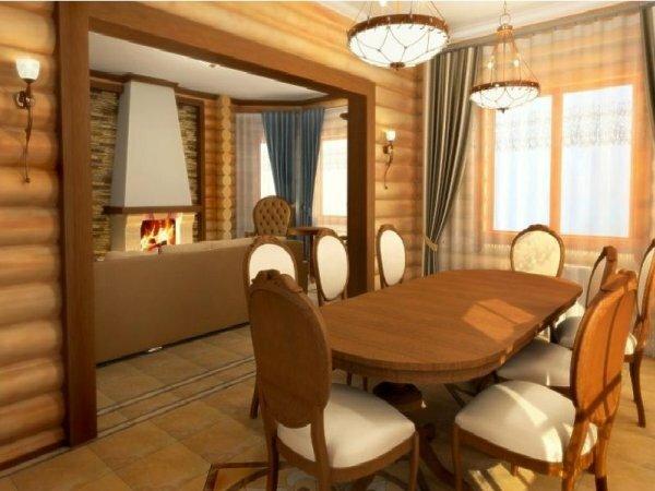 Небольшой загородный домик внутри может оказаться достаточно просторным