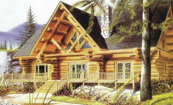Красивый двухэтажный дом может находиться даже в лесу