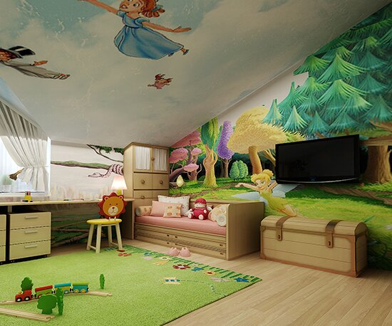 Можно сделать уютную детскую комнату