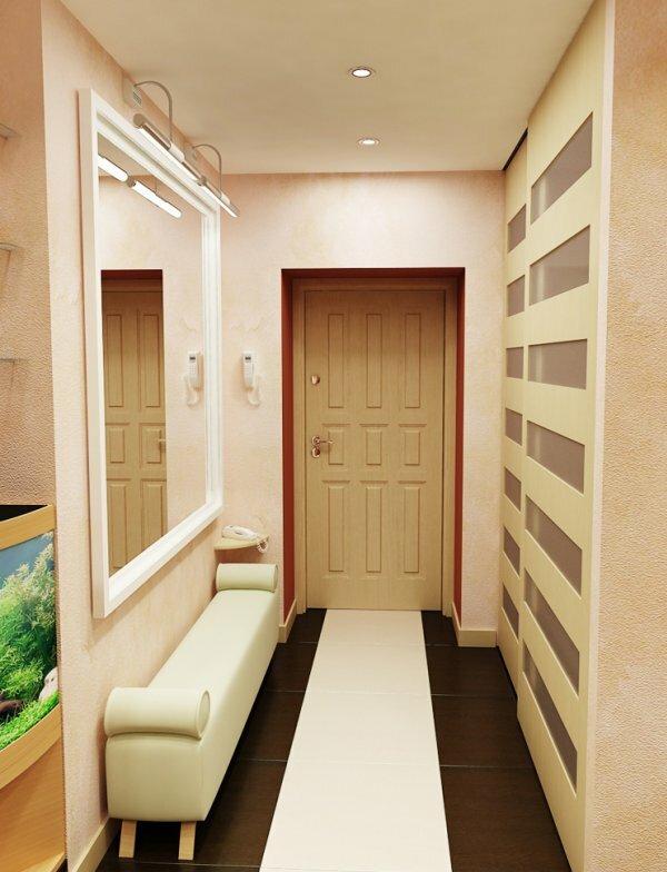 Зеркало, правильное сочетание цветов и минимум мебели – вот рецепт идеального интерьера коридора