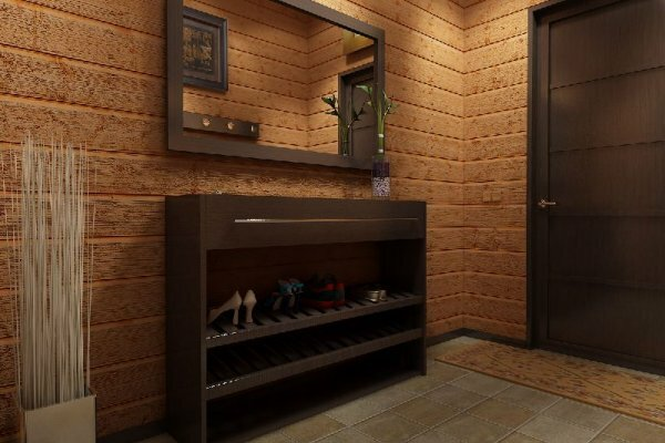 Лучше всего в маленьком коридоре смотрится узкая мебель