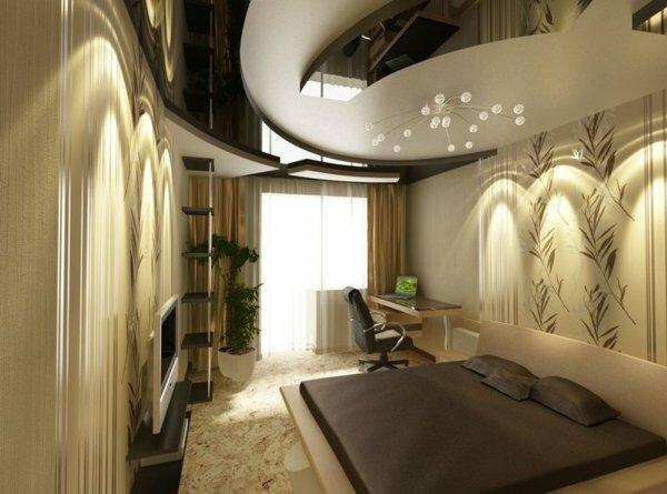 Современные технологии позволяют сделать навесной потолок из гипсокартона глянцевым